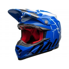 BELL Moto-9 Flex čelada Fasthouse DID 20 Gloss Blue/White