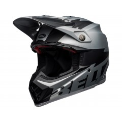 BELL Moto-9 Flex čelada Breakaway Matte Silver/Black