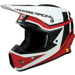 MOOSE RACING ČELADA F.I. SESSION MIPS RED/WHITE