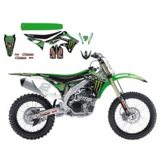 BLACKBIRD KOMPLET SET KAWASAKI MONSTER ENERGY GRAFIK  KXF450 2012-2015